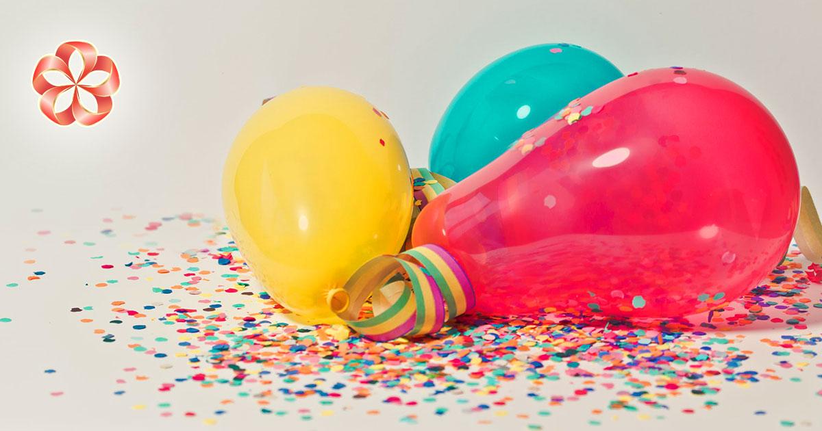 Подарки именинникам в августе и Девам по гороскопу. Шарики, кстати, тоже можем прислать; а вот конфетти режьте сами.